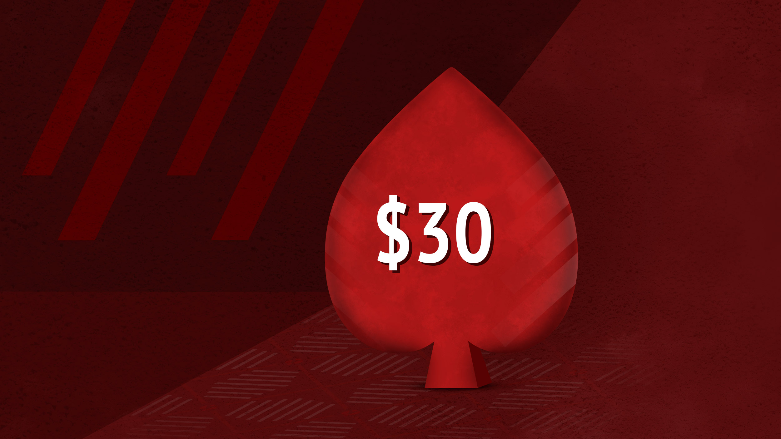 Бонус по промокоду THIRTY в руме Pokerstars.